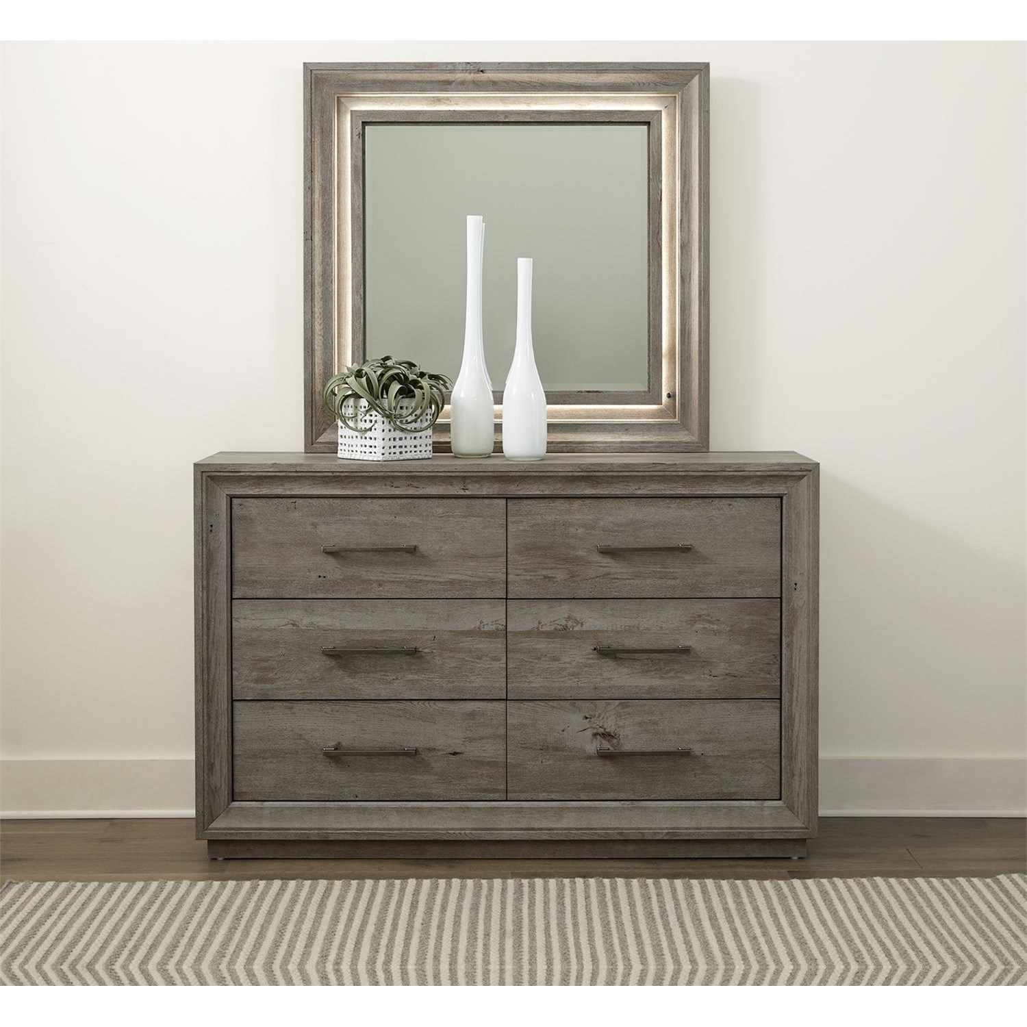 Horizons Dresser & Mirror by Liberty Furniture at Northeast Factory Direct
