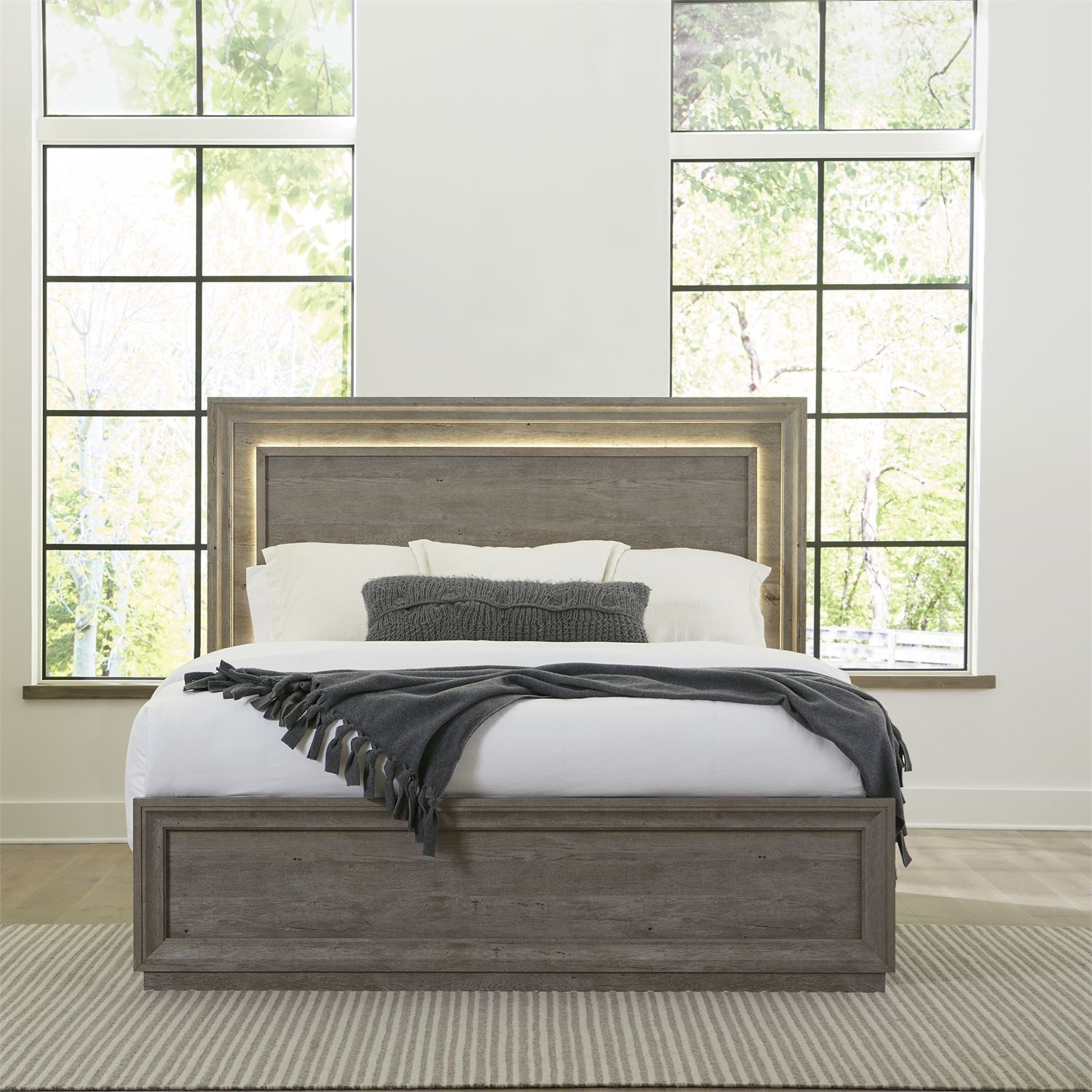 Horizons King Panel Bed by Libby at Walker's Furniture