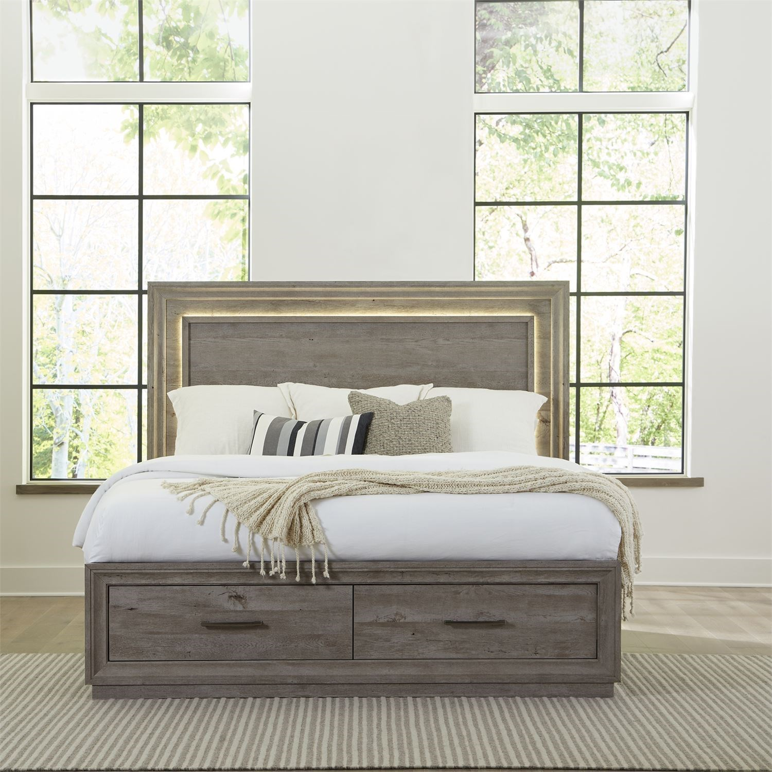 Horizons Queen Storage Bed by Libby at Walker's Furniture