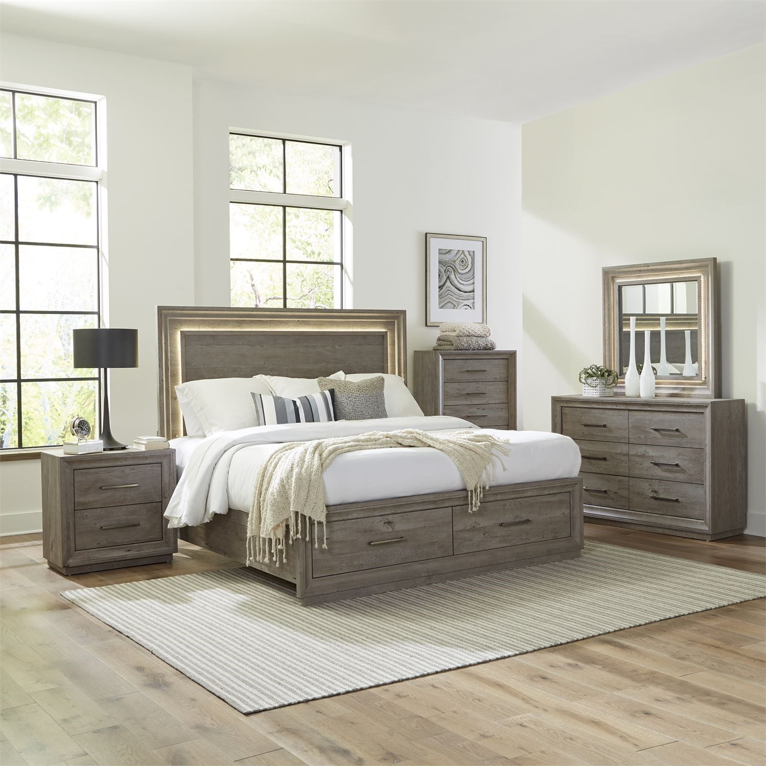 Horizons King Bedroom Group by Freedom Furniture at Ruby Gordon Home