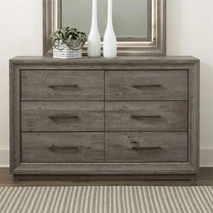 Contemporary 6-Drawer Dresser