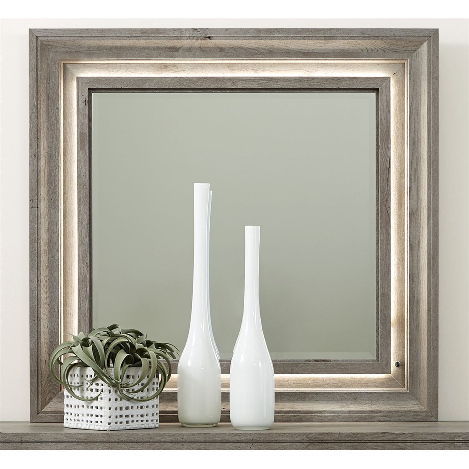 Horizons Lighted Mirror by Libby at Walker's Furniture