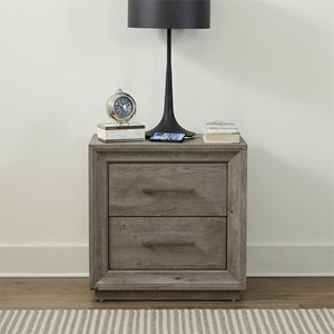 2-Drawer Nightstand with Charging Station