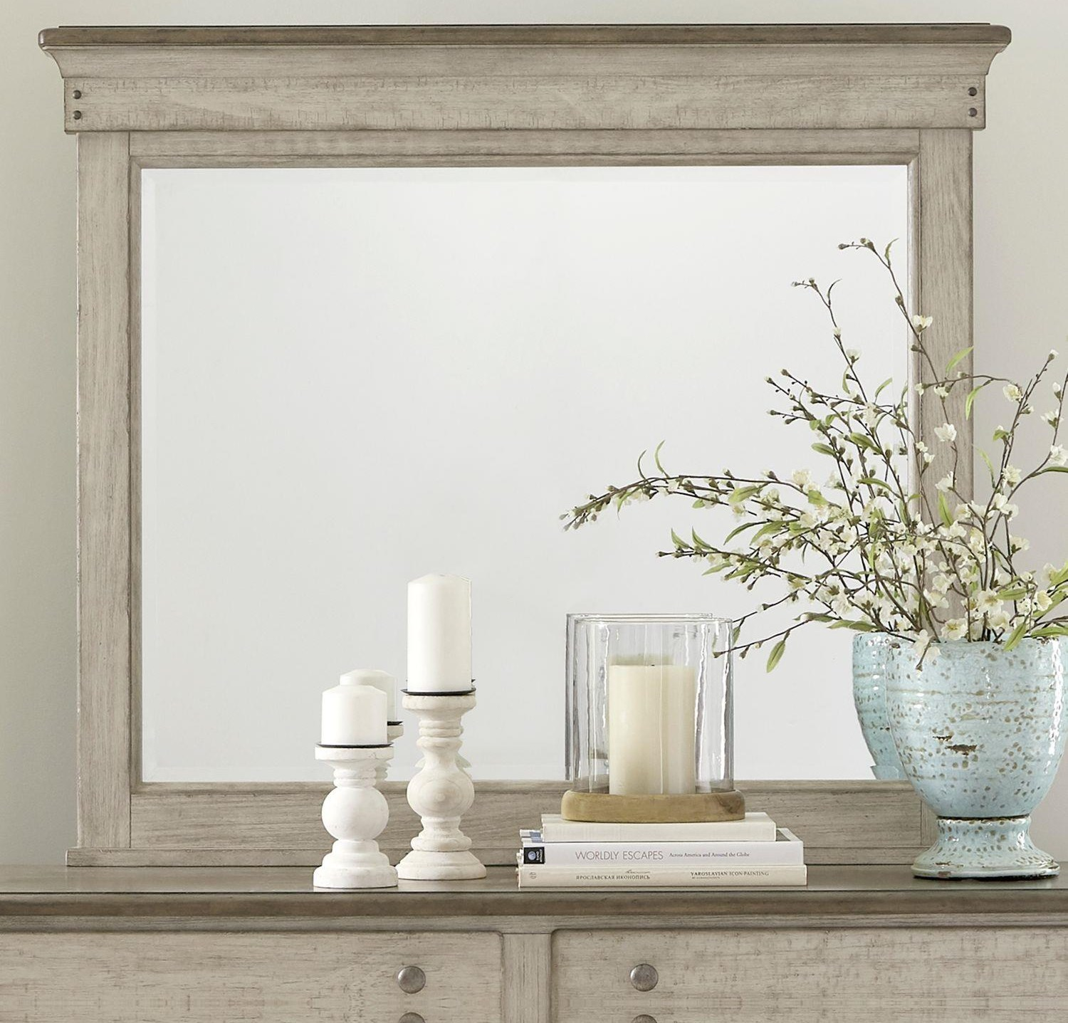 Ivy Hollow Landscape Mirror by Liberty Furniture at Johnny Janosik