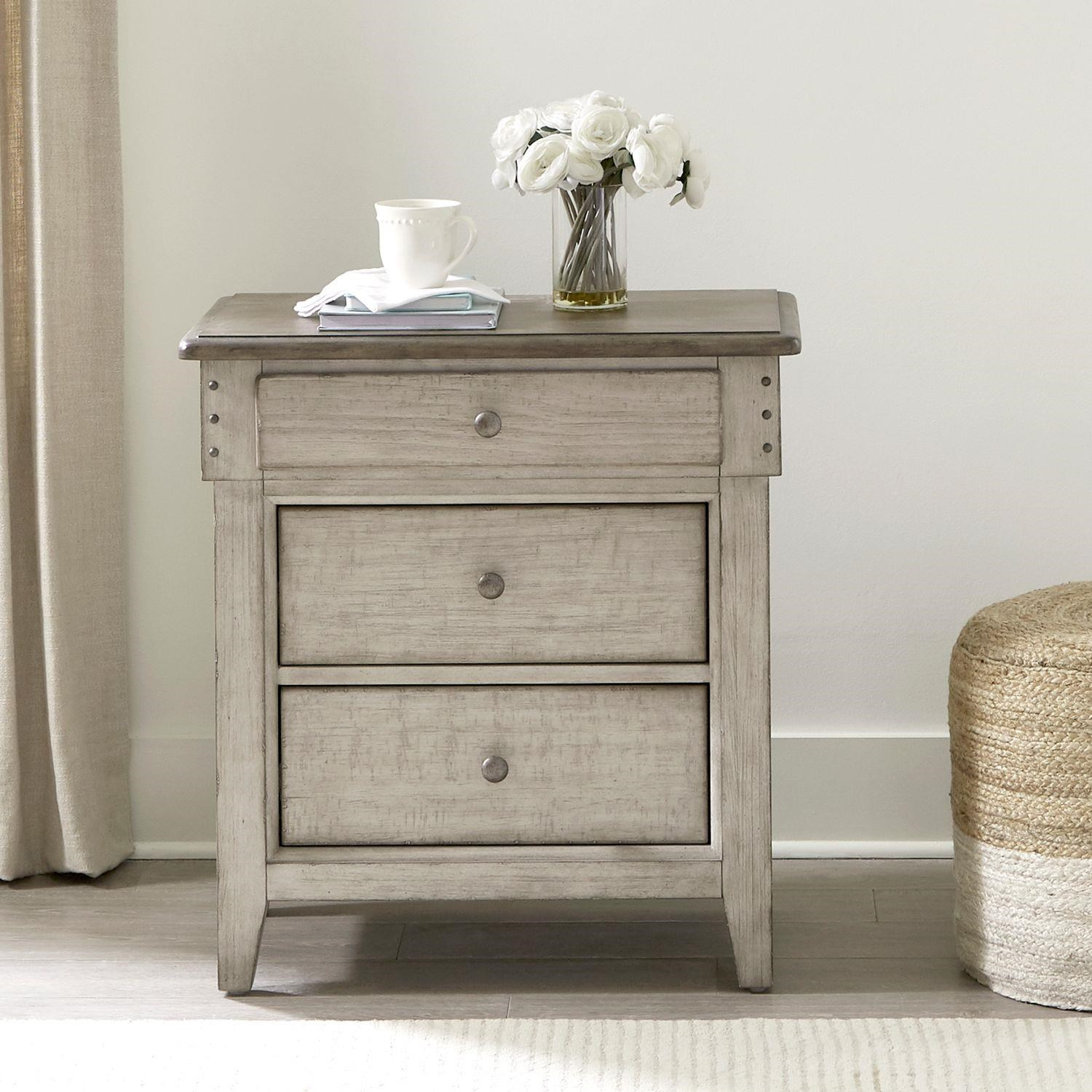 Ivy Hollow 3 Drawer Nightstand by Liberty Furniture at Johnny Janosik