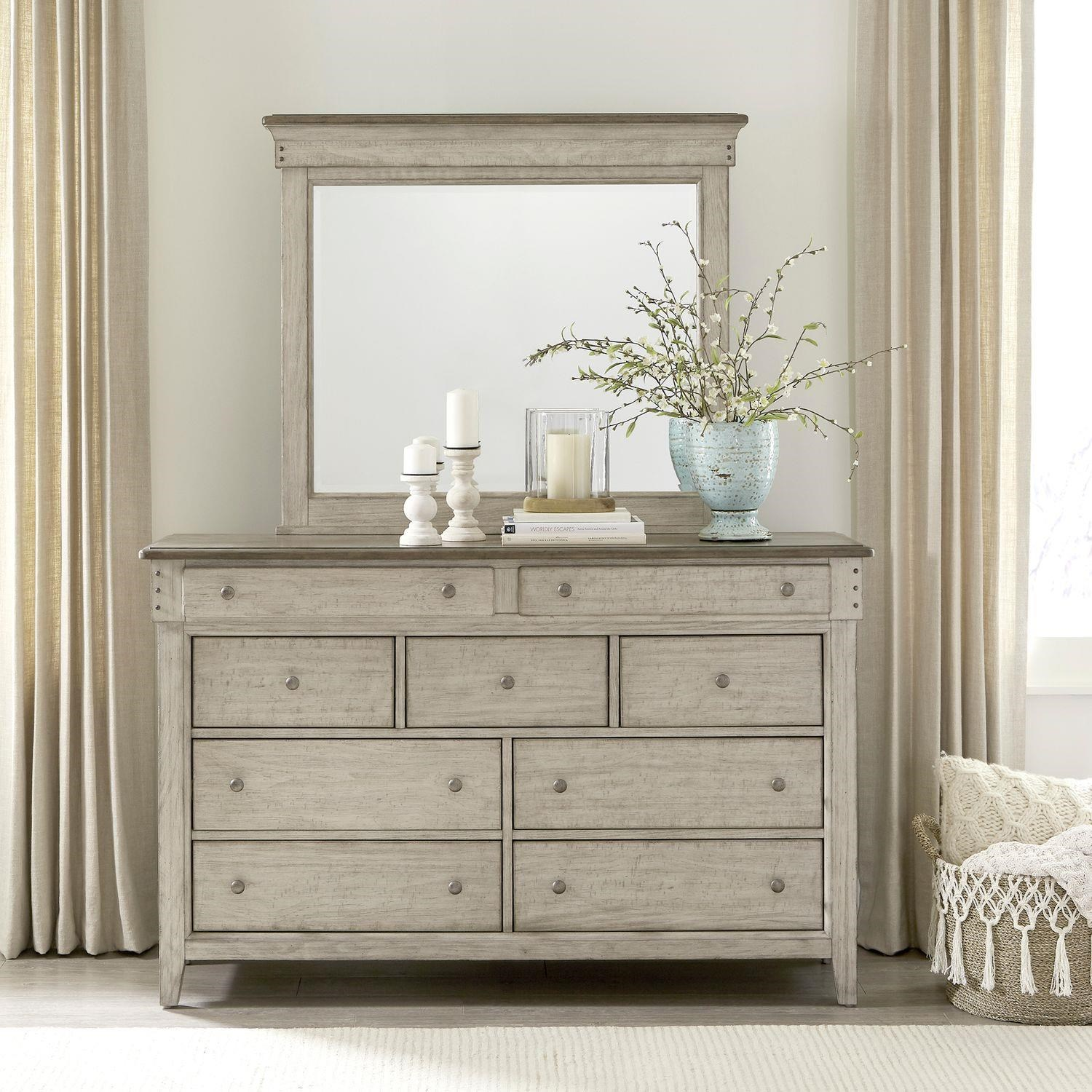 Ivy Hollow Dresser and Mirror by Liberty Furniture at Johnny Janosik