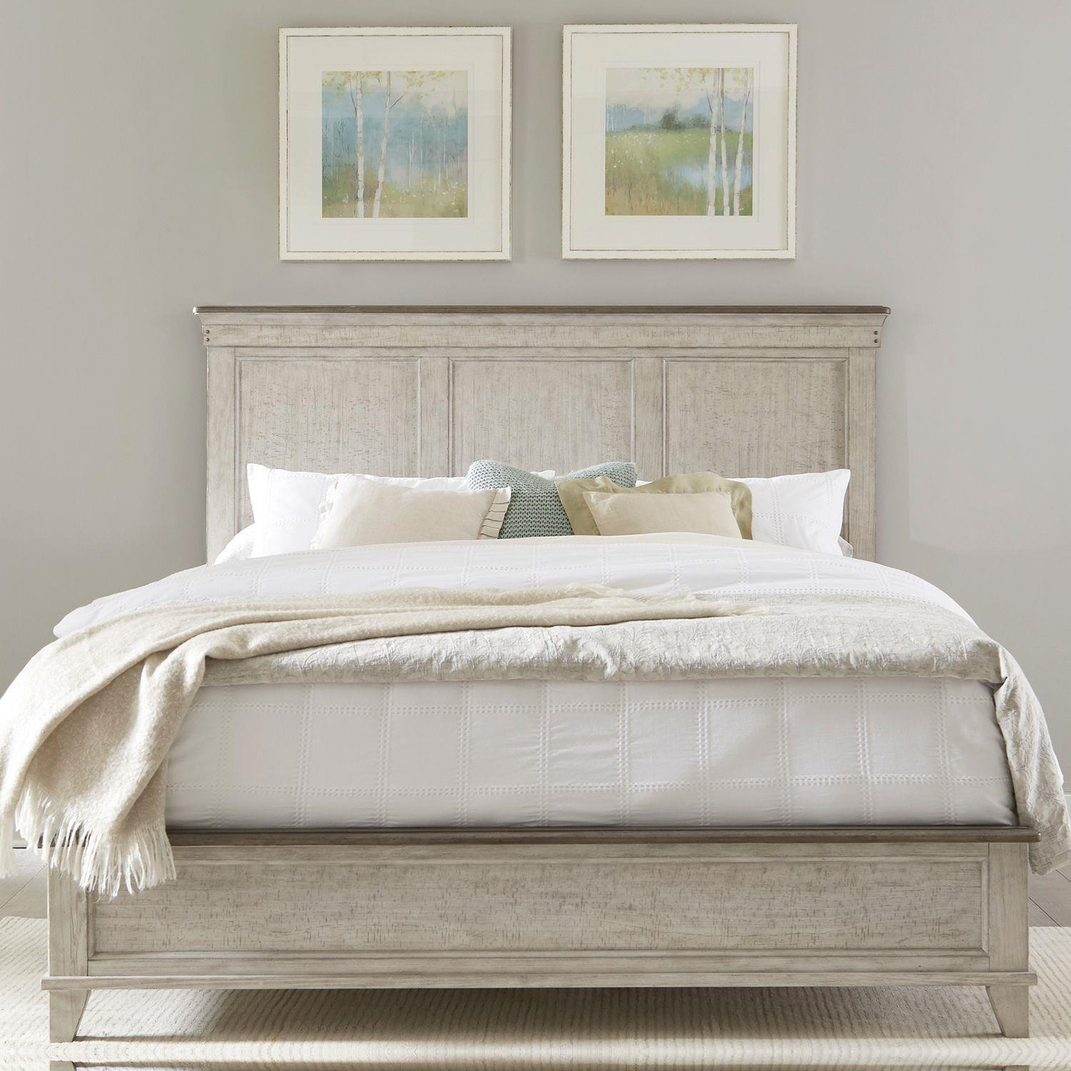 Ivy Hollow King Panel Bed by Liberty Furniture at Johnny Janosik