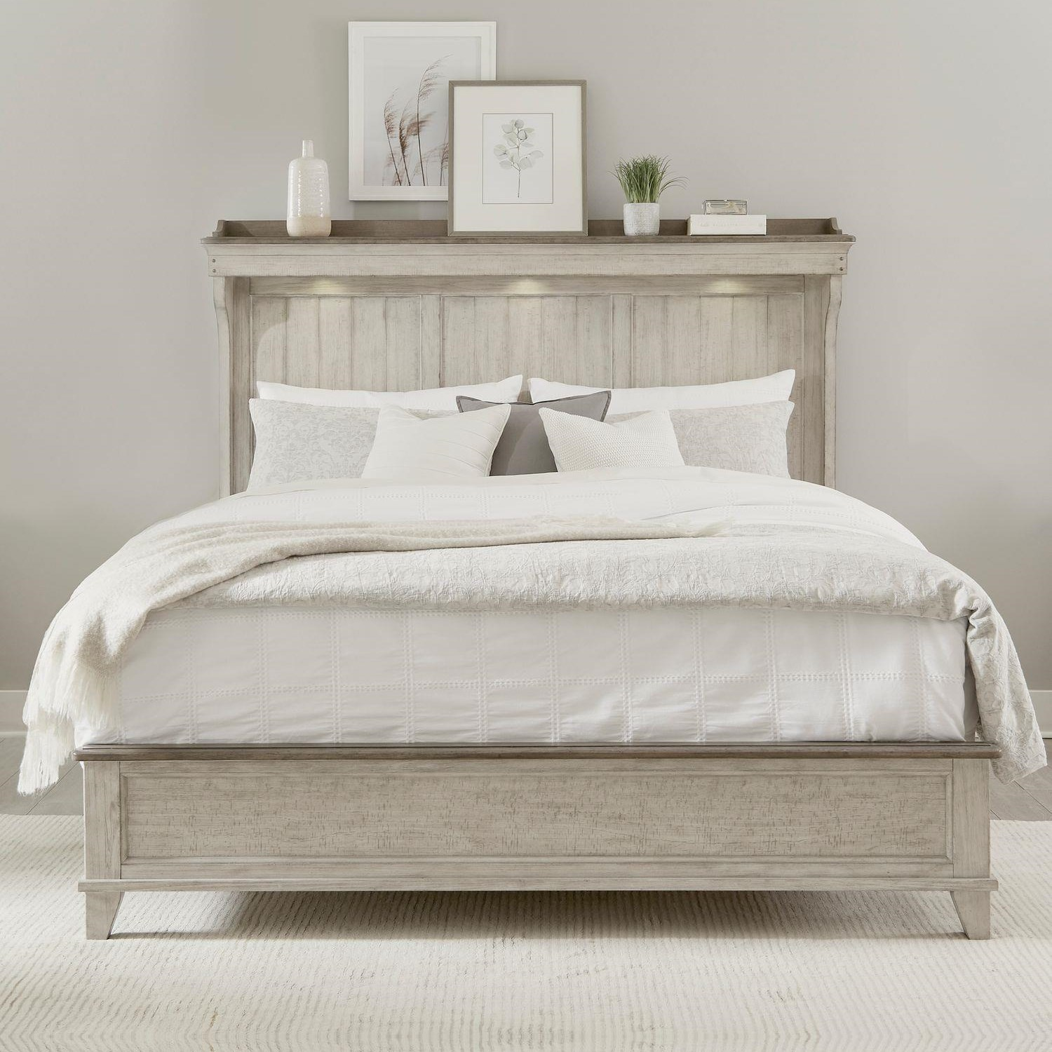 Ivy Hollow King Mantel Bed by Liberty Furniture at Johnny Janosik