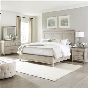 Queen Panel Bed, Dresser, Mirror, Nighstand