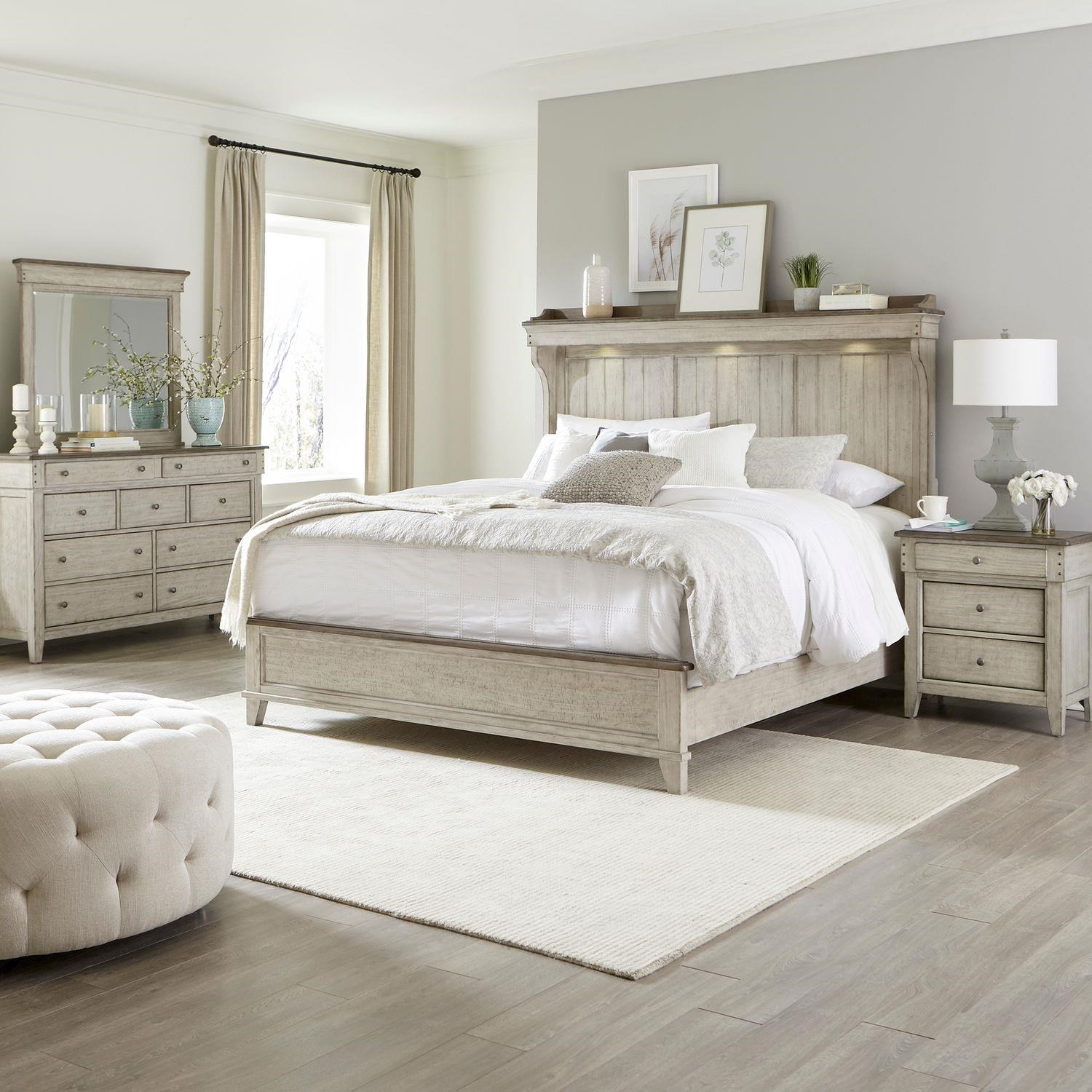 Ivy Hollow King Mantel, Dresser, Mirror, Nightstand by Liberty Furniture at Johnny Janosik