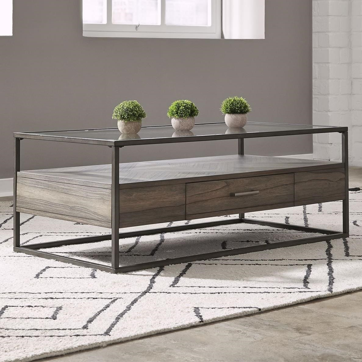 Jamestown Rectangular Cocktail Table by Liberty Furniture at Home Collections Furniture