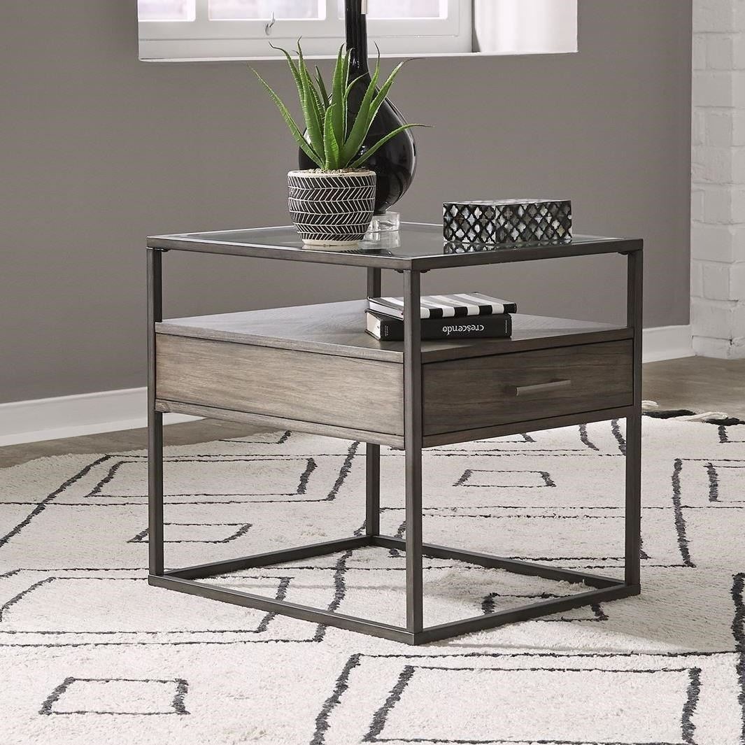 Jamestown End Table by Libby at Walker's Furniture