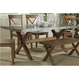 Liberty Furniture Keaton Rectangle Trestle Table