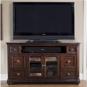 TV Console with Door and Drawer Storage