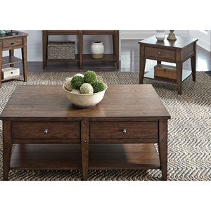 2-Drawer Cocktail Table and End Table Set