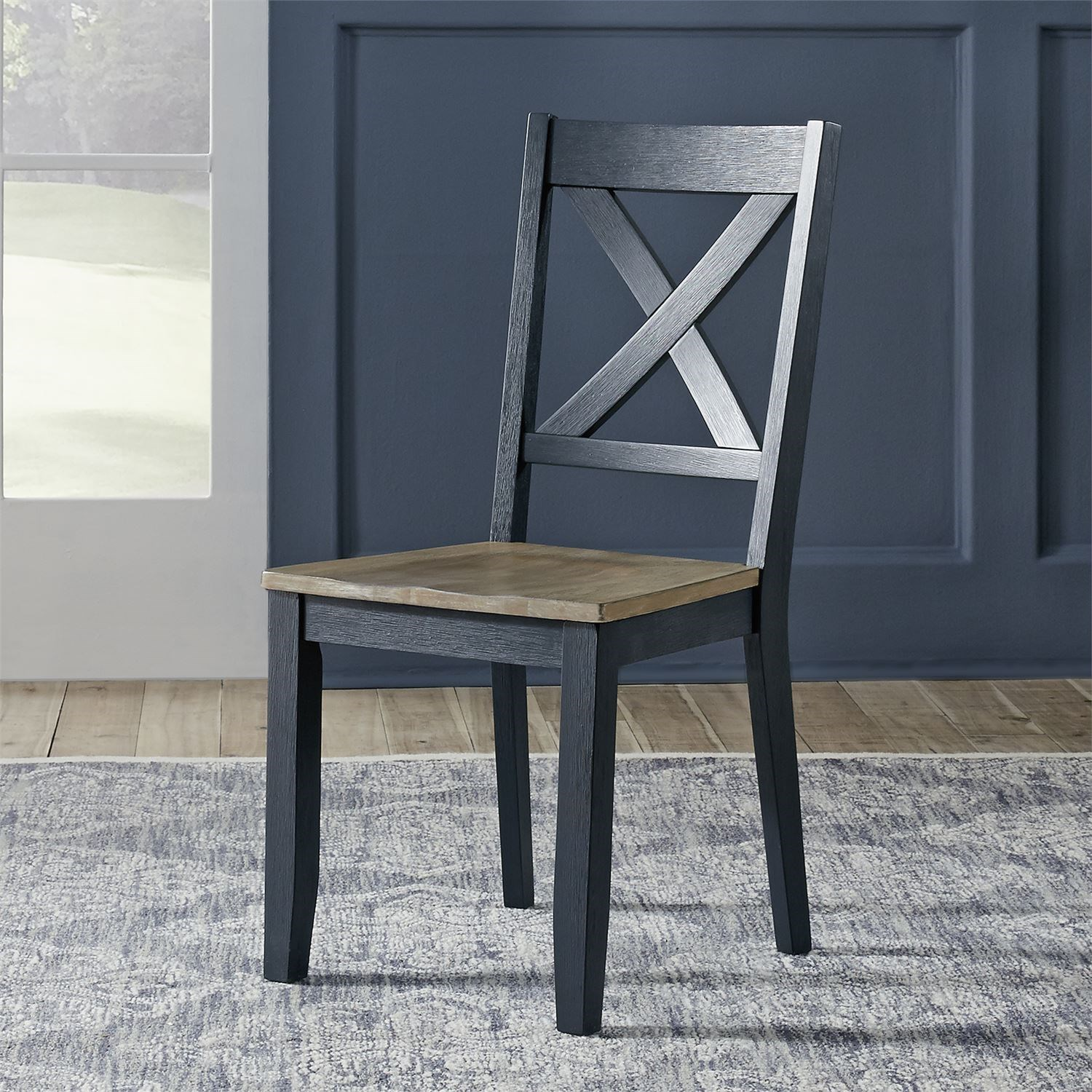 Lakeshore X-Back Side Chair by Libby at Walker's Furniture