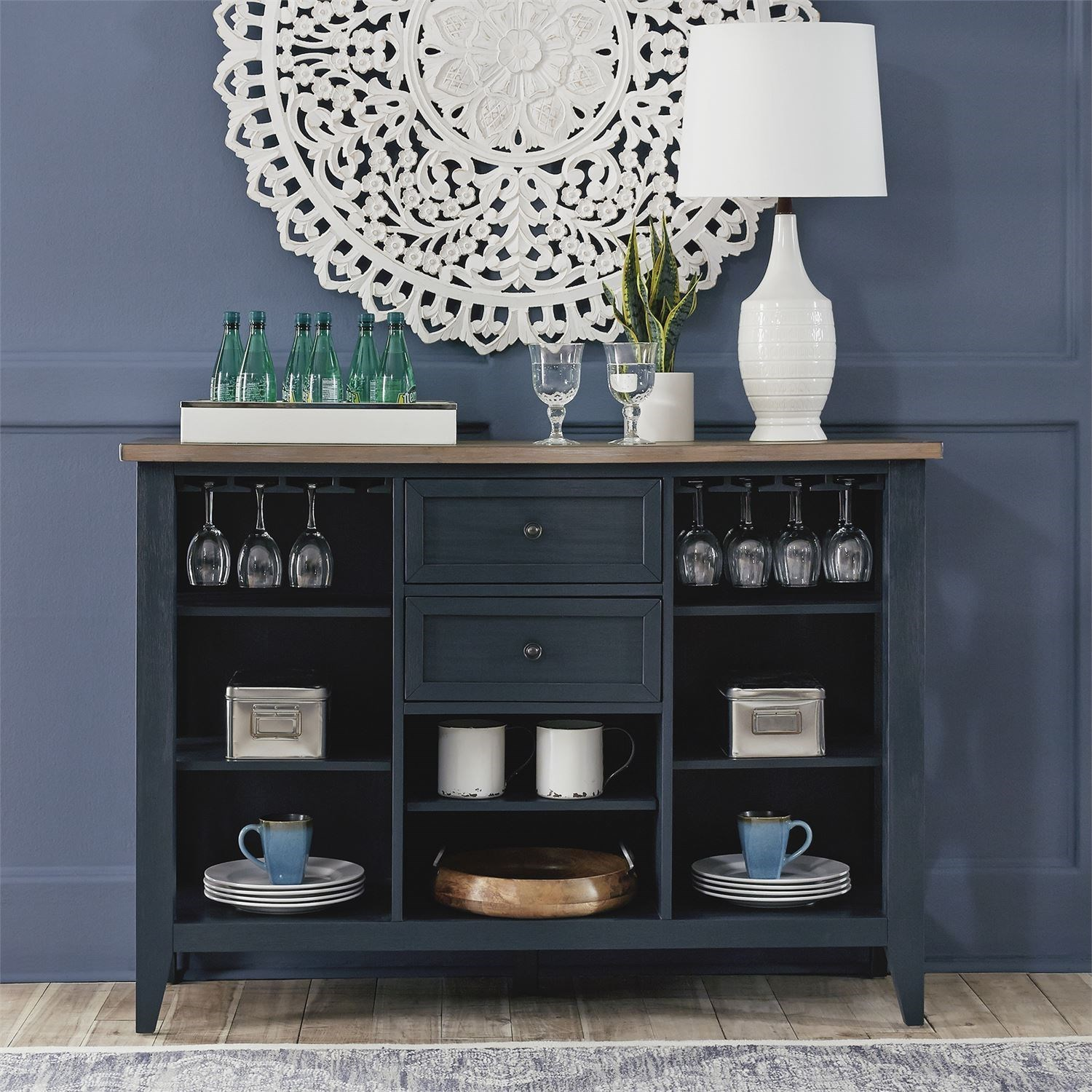 Lakeshore Server by Liberty Furniture at Zak's Home