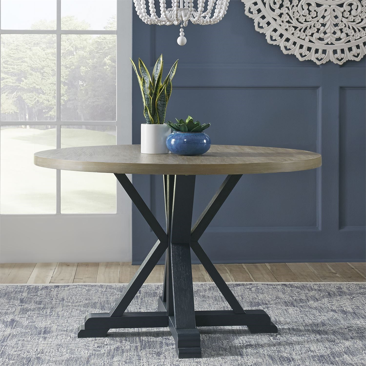Lakeshore Single Pedestal Table by Libby at Walker's Furniture