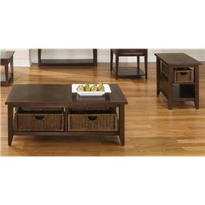 Basket Coffee Table and End Table Set
