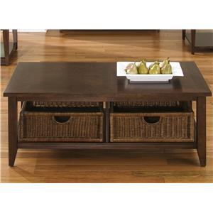 Liberty Furniture Lakewood Basket Cocktail Table