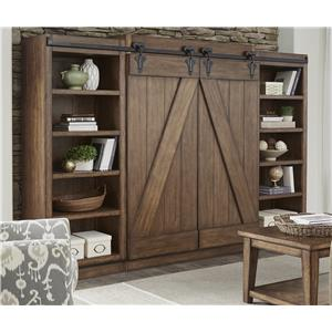 Entertainment Center with Piers and Sliding Barn Doors