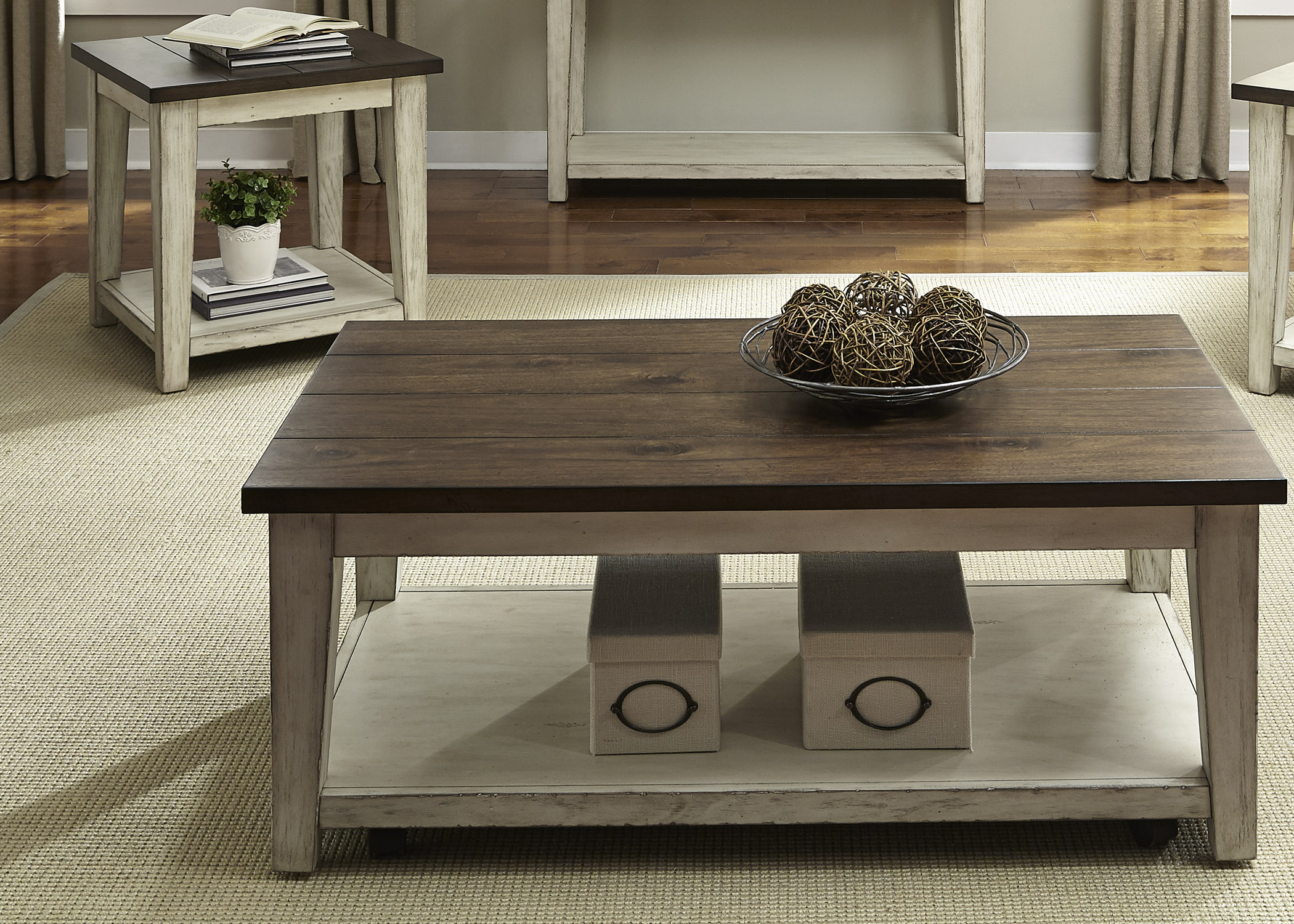 Lancaster Rustic Occasional Table Group by Libby at Walker's Furniture