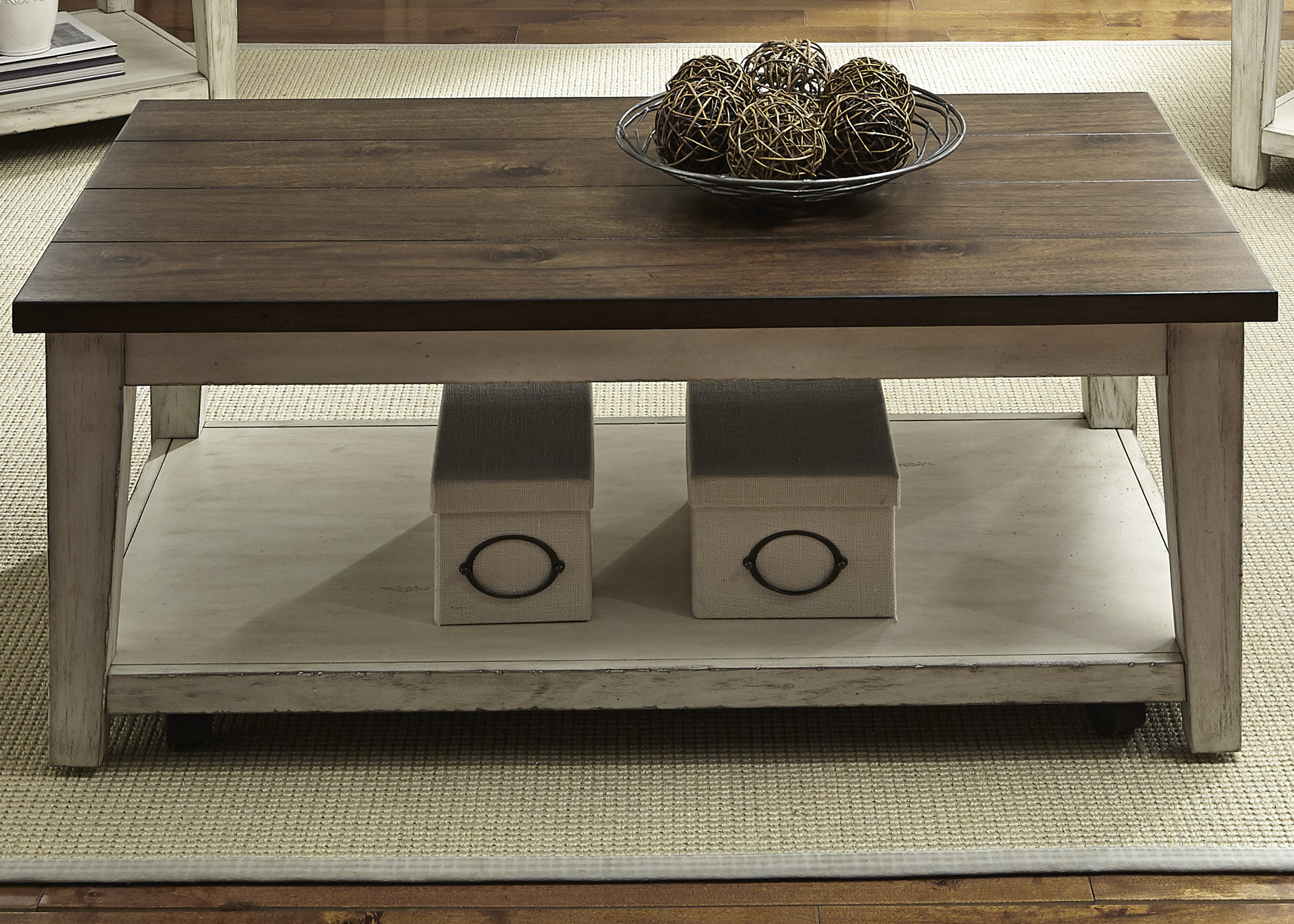 Lancaster Castered Cocktail Table by Libby at Walker's Furniture