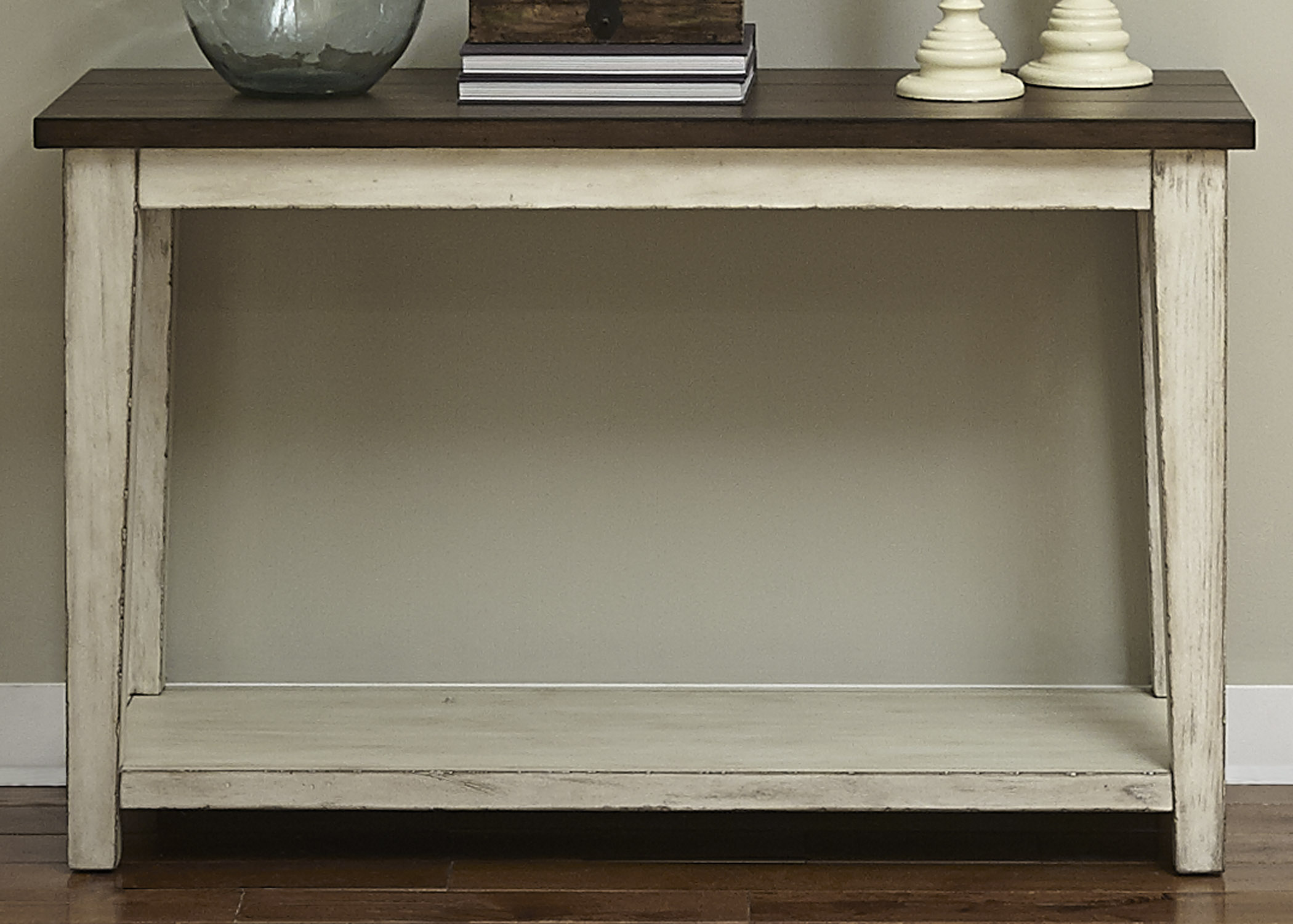 Lancaster Rustic Sofa Table by Libby at Walker's Furniture