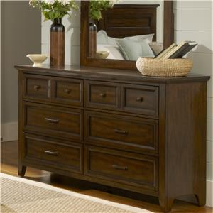 Transitional 6-Drawer Dresser