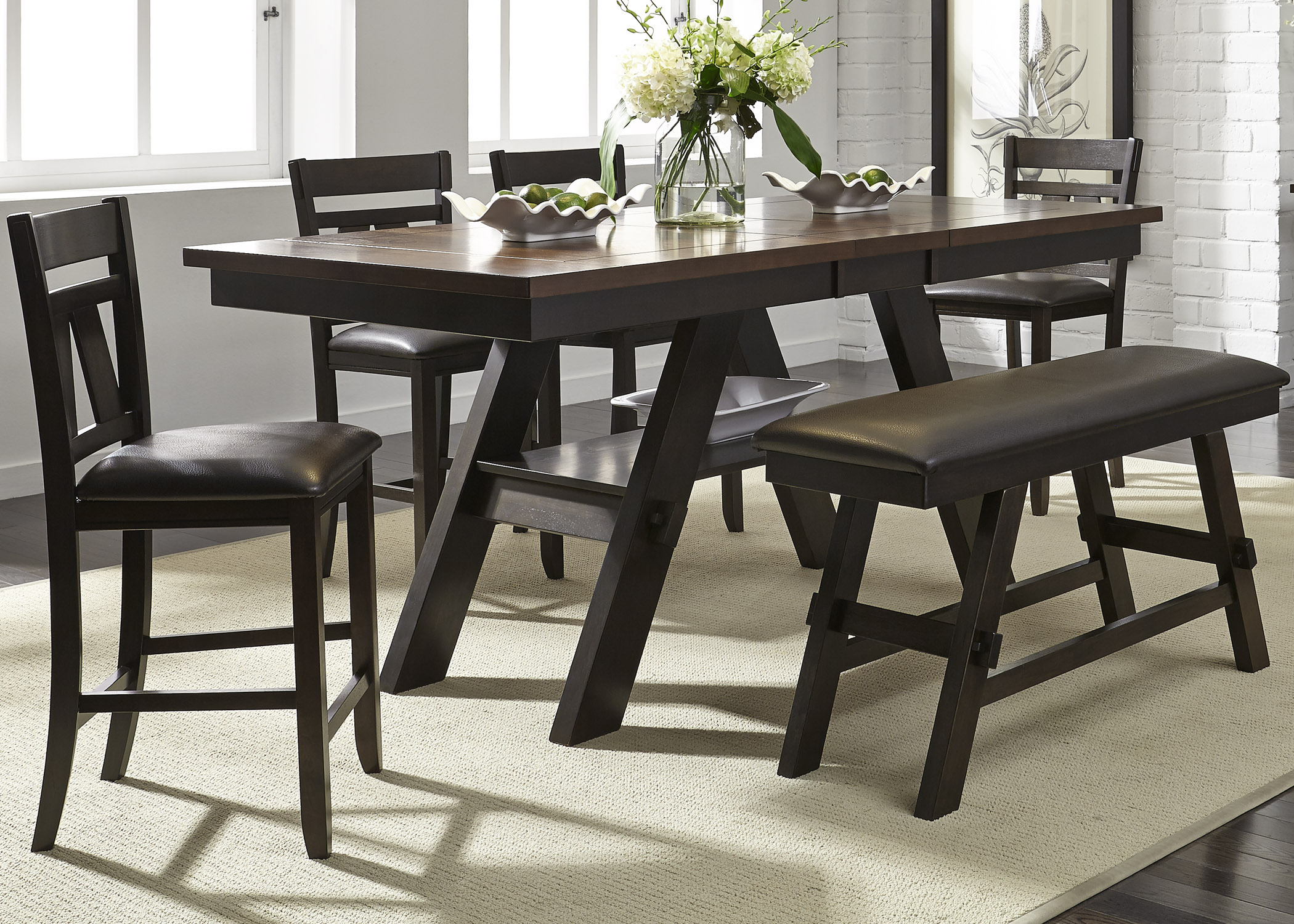 Lawson 6 Piece Gathering Table Set  by Libby at Walker's Furniture