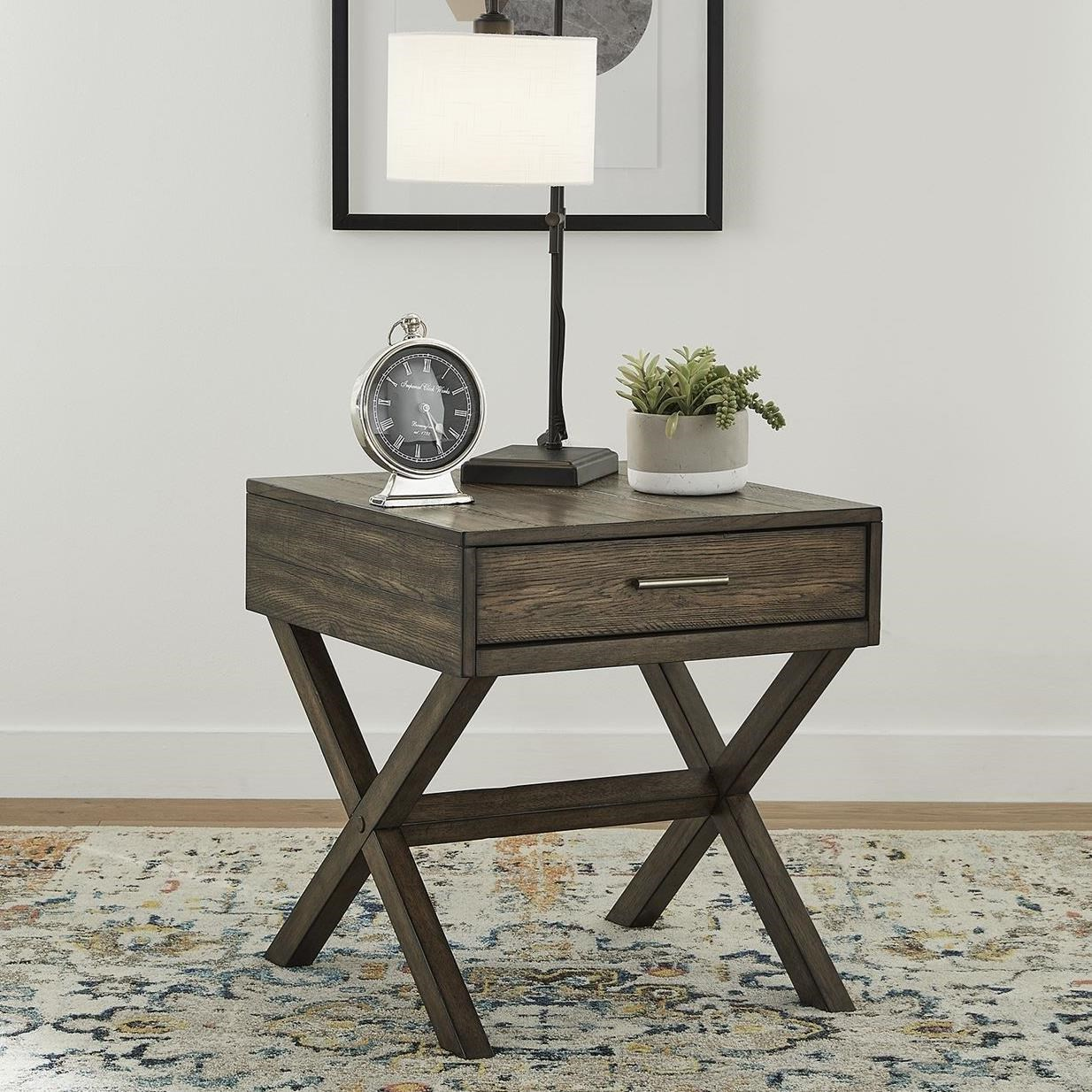 Lennox Drawer End Table by Libby at Walker's Furniture
