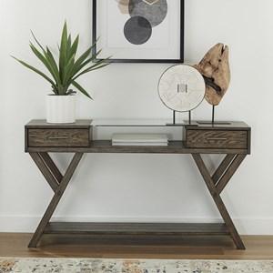 Modern 2-Drawer Sofa Table with Shelf