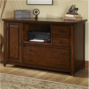 Credenza with Built-in File Drawer and Pull Out Shelf