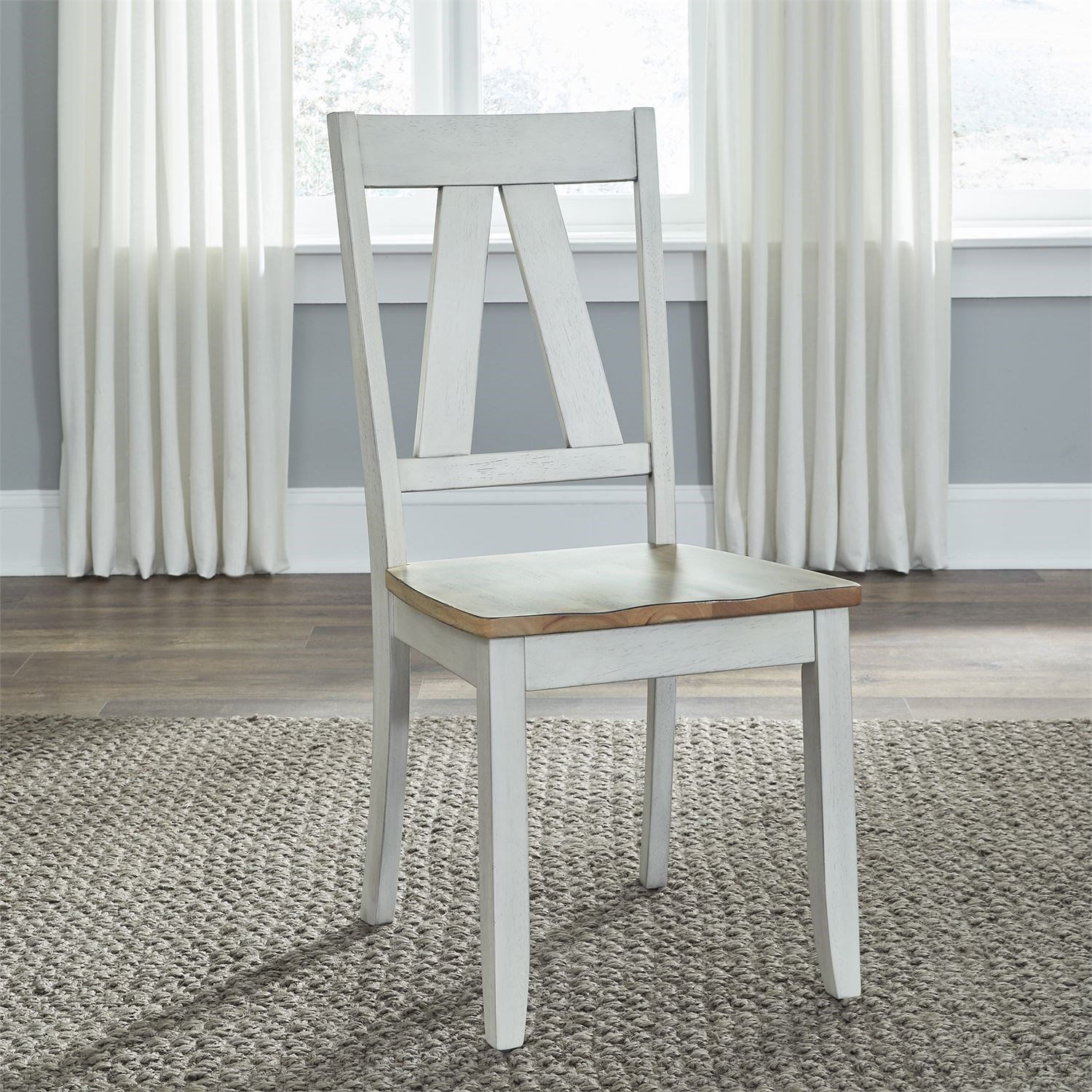 Lindsey Farm Splat Back Side Chair by Libby at Walker's Furniture