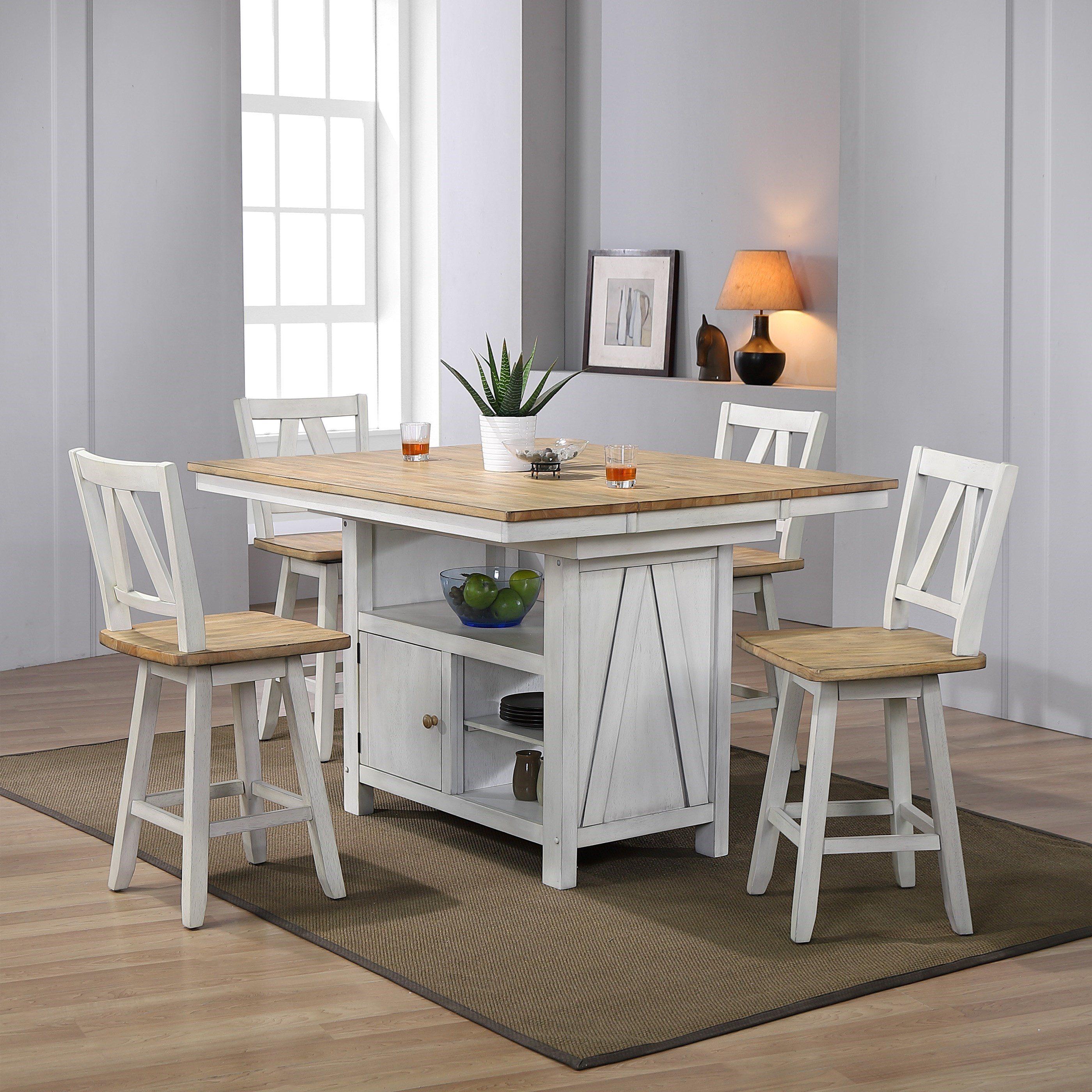 Lindsey Farm 5-Piece Gathering Table Set by Libby at Walker's Furniture