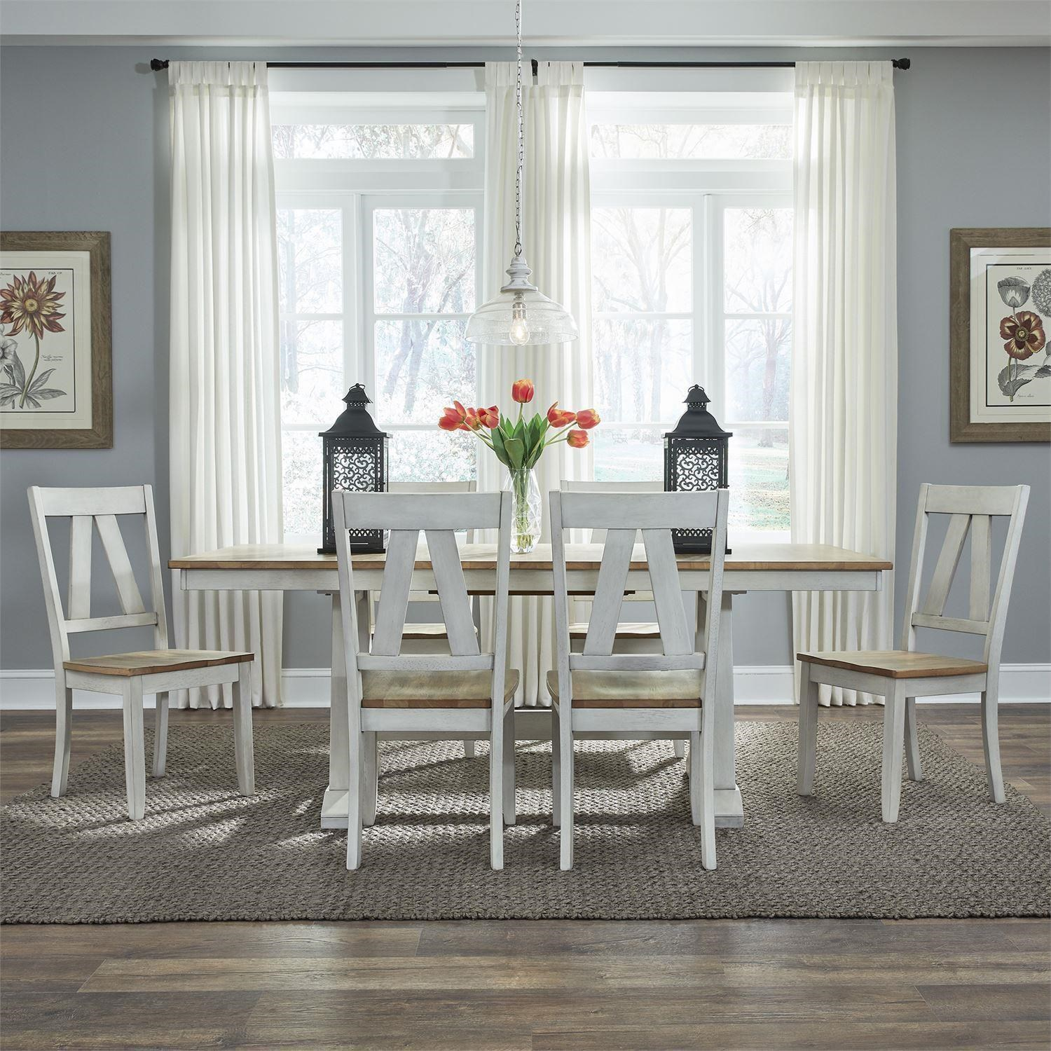 Lindsey Farm 5 Piece Dining Set by Liberty Furniture at Darvin Furniture