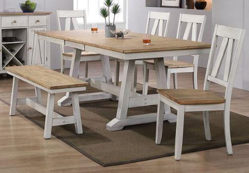 Lindsey Farm 6-Piece Trestle Table Set by Liberty Furniture at Johnny Janosik