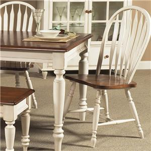 Windsor Back Side Chair with Turned Legs