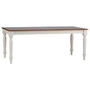Rectangular Dining Table with Turned Legs