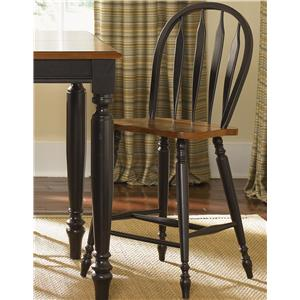 Liberty Furniture Low Country Windsor Back Barstool