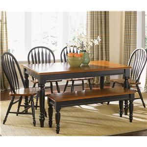 Six Piece Dining Set with Turned Legs