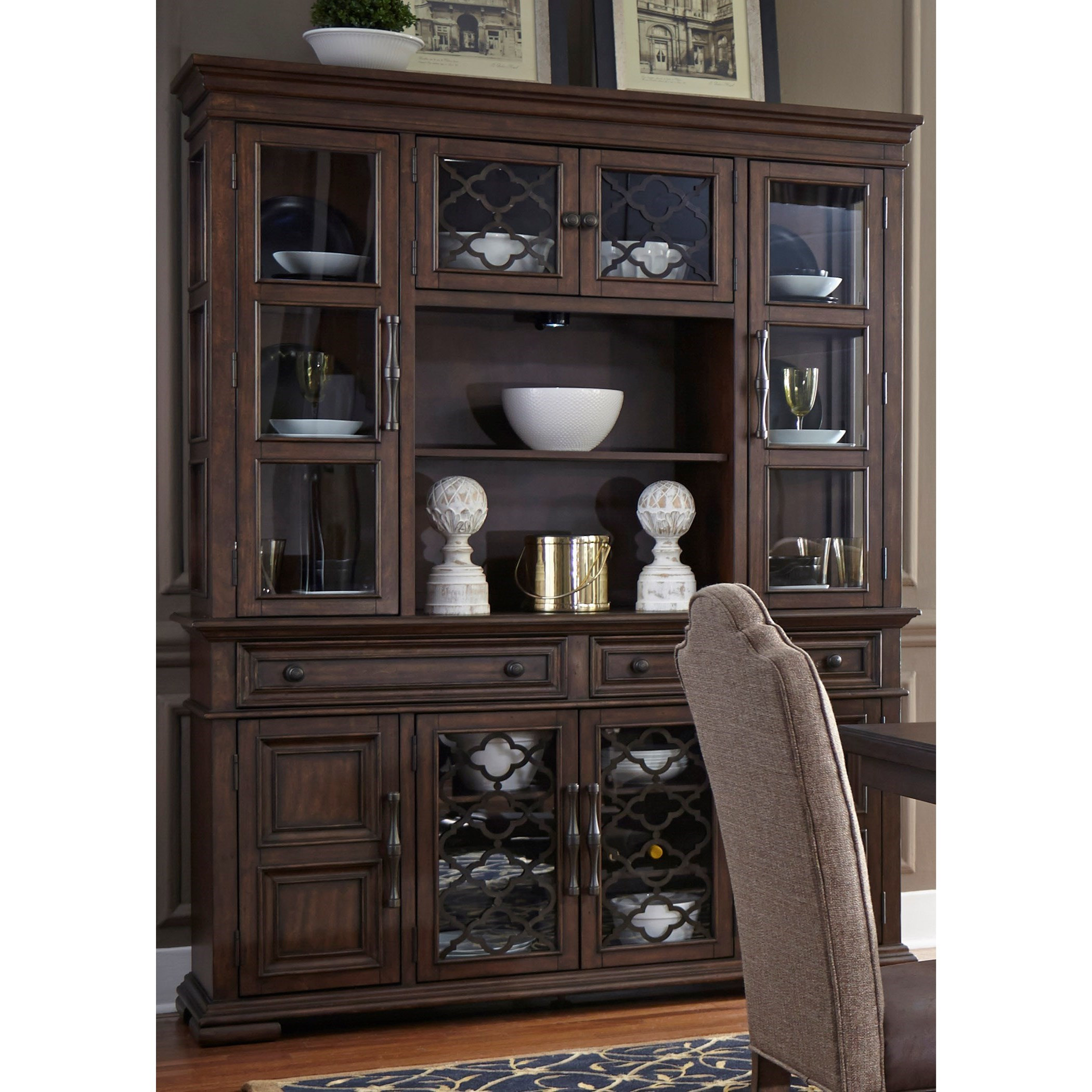 Lucca Buffet with Hutch by Liberty Furniture at Northeast Factory Direct