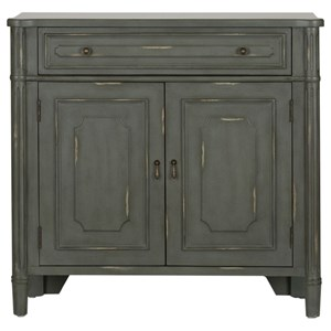 Relaxed Vintage 1 Drawer 2 Door Accent Cabinet with Wood Detailing