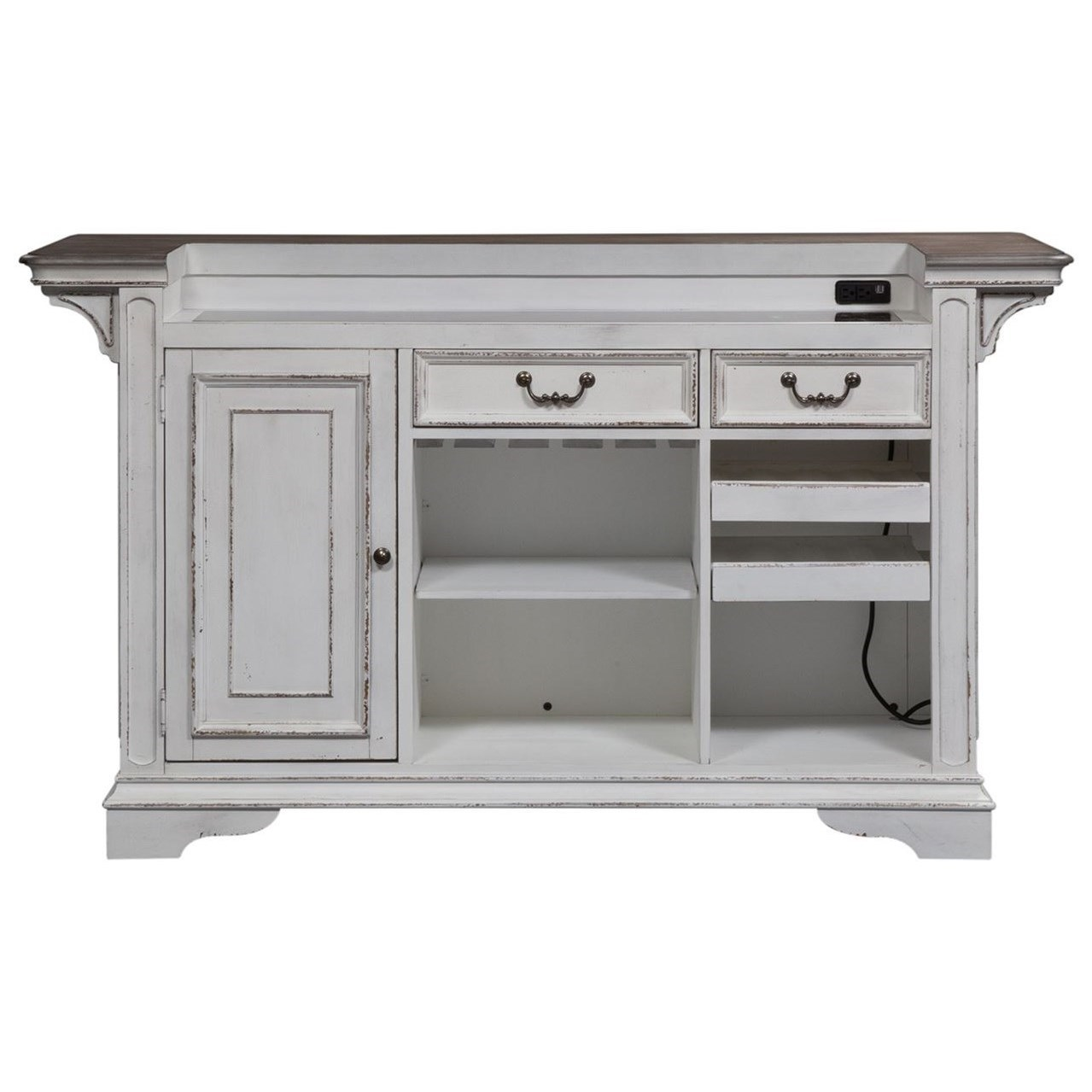 Morgan Bar with Marble Top by Libby at Walker's Furniture