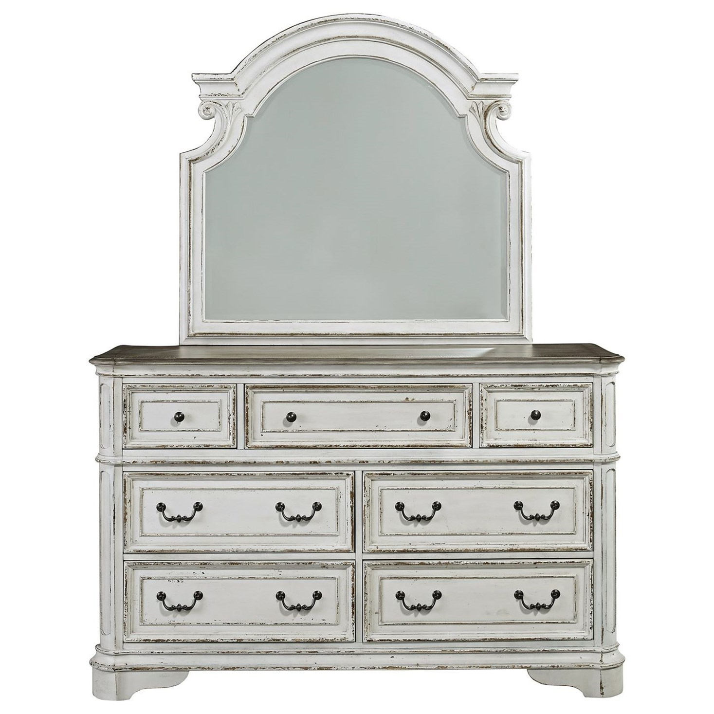 Magnolia Manor 7 Drawer Dresser and Mirror by Liberty Furniture at Darvin Furniture