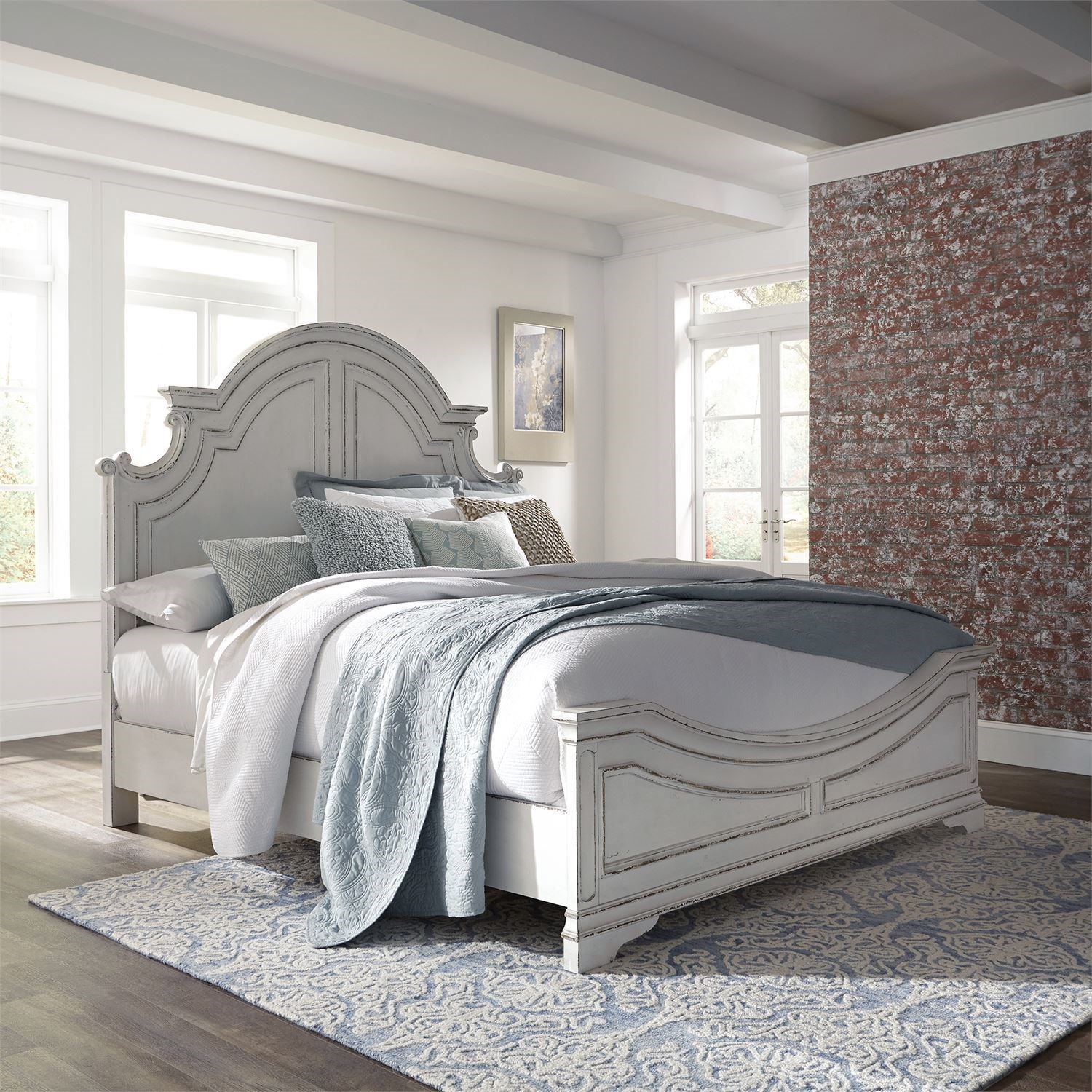Morgan King Panel Bed  by Libby at Walker's Furniture