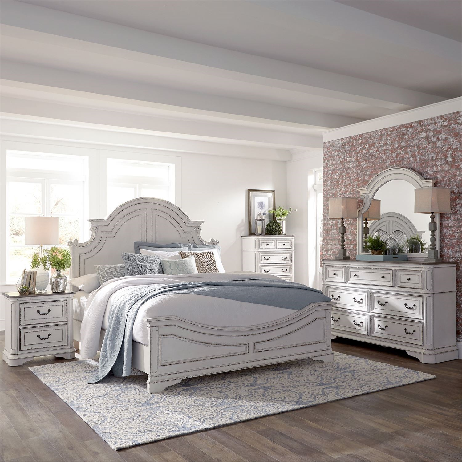 Morgan 5 Piece King Bedroom Group by Libby at Walker's Furniture