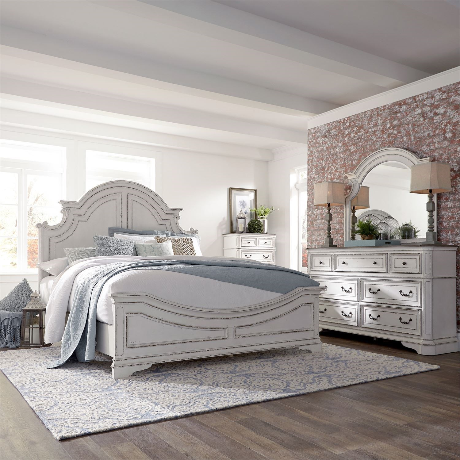 Magnolia Manor Queen Bedroom Group by Liberty Furniture at Novello Home Furnishings