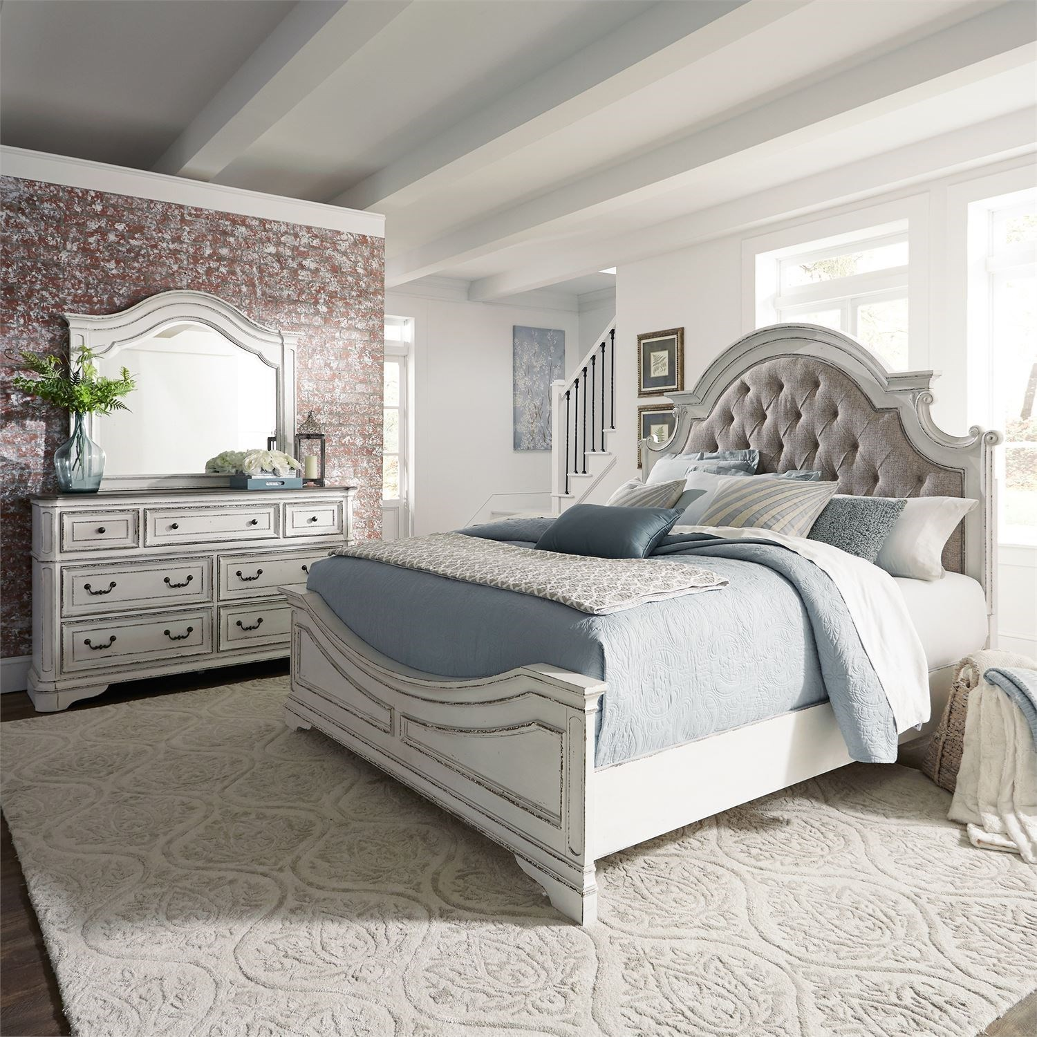 Magnolia Manor Queen Bedroom Group by Liberty Furniture at Northeast Factory Direct