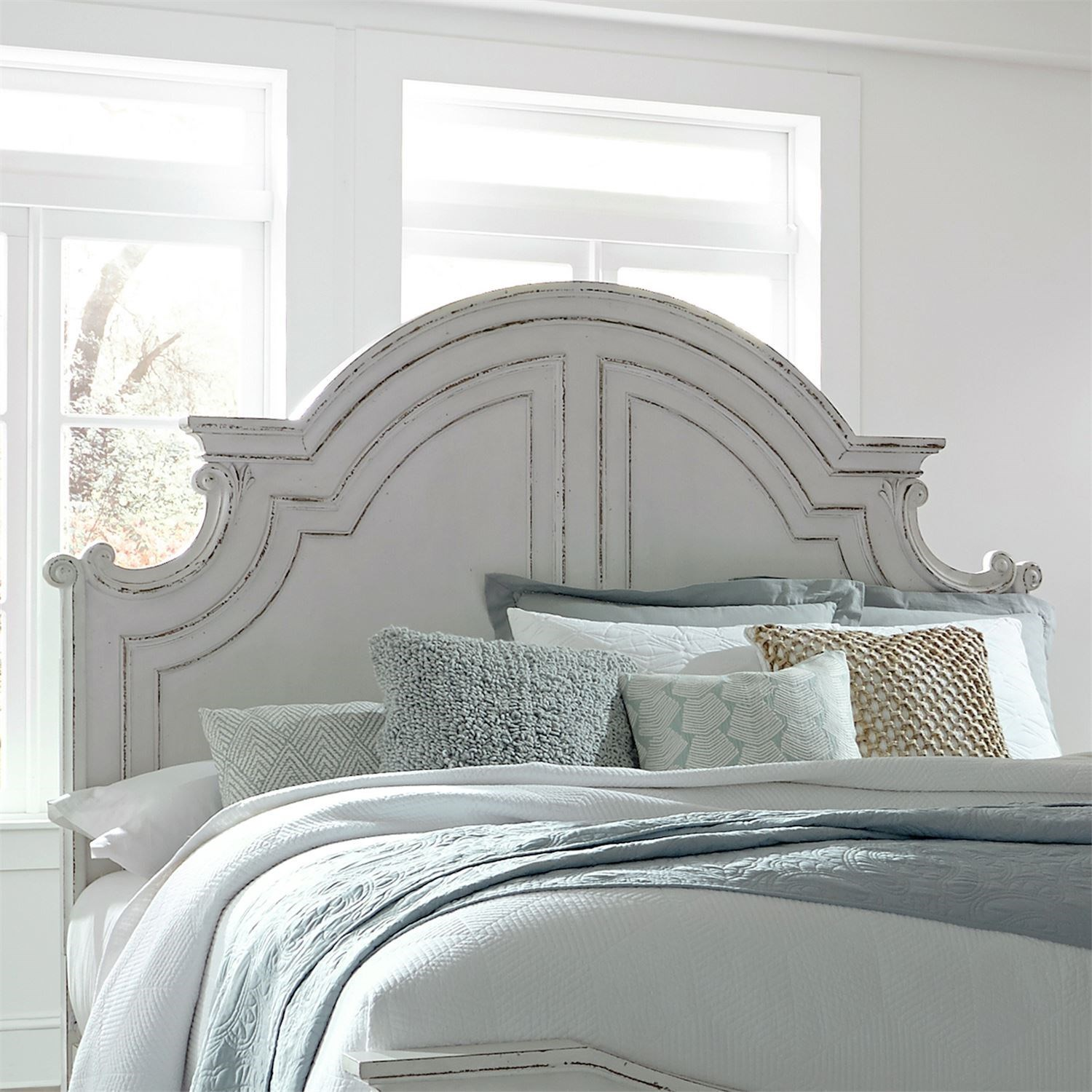 Magnolia Manor Queen Panel Headboard by Liberty Furniture at Zak's Home